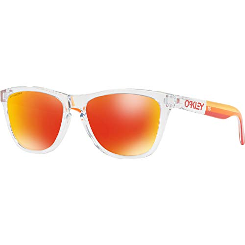 OAKLEY OO9245 - 924573 SUNGLASSES POLISHED CLEAR/ PRIZM RUBY ()
