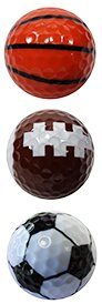 Trio Collection Novelty Golf Balls / Sports