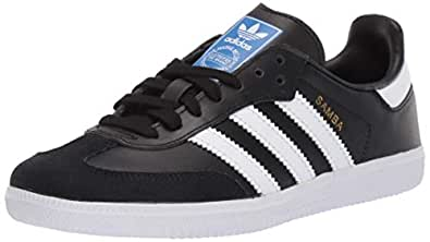 adidas Kids Unisex Originals Samba OG Shoes Black Size: 1 Big Kid