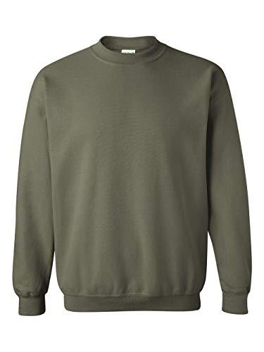(Gildan Men's Heavy Blend Crewneck Sweatshirt - Small - Military Green)