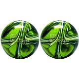 EPCO Duckpin Bowling Ball- 2 Urethane Pro-Line - Lime Green, White & Navy Balls