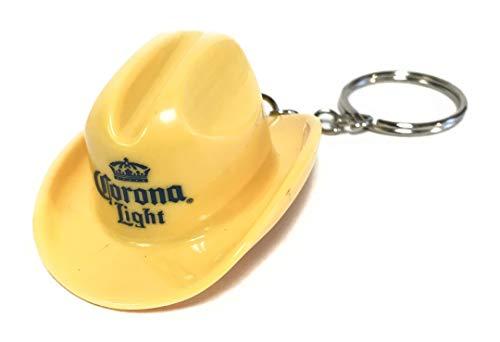 Corona Light Yellow Cowboy Hat Bottle Opener Keychain