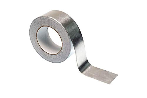 3M 3311 Silver Aluminum Foil Tape - 1 in. x 5 yd. Vapor Resistant Rubber Adhesive Foil Tape Roll. Adhesives and Tapes (Mylar Hose)