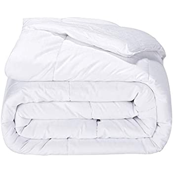 puredown Alternative Comforter Duvet Insert 300 Thread Count Cotton Shell White King/Cal King