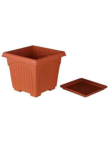 Asfa Deals Square Planter Plastic Pot with Tray