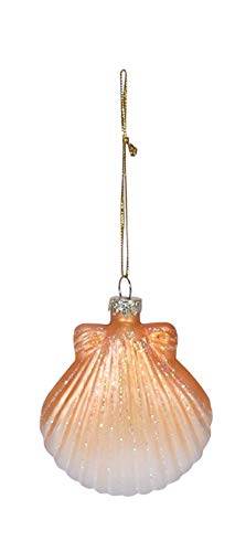 (Beachcombers Coastal Life Decorative Beach Ornament with S-Hook (Clam Shell,)