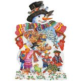 Snowy Friends 750 Piece Snowman Shaped Jigsaw Puzzle