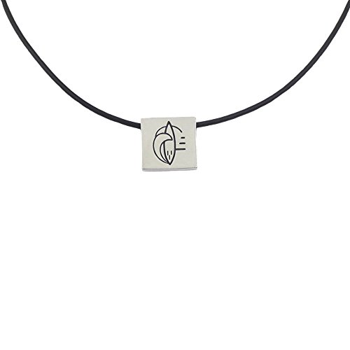 JINAO Exreme Sports Charm Stainless Steel Silver Plated Pendant Necklace Rubber 24