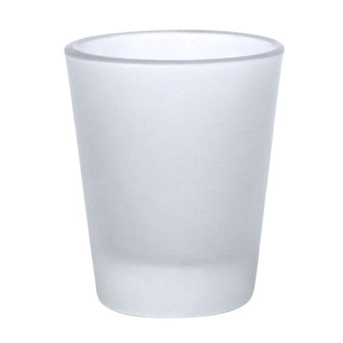 12 Pcs. BLANK SUBLIMATION SHOT GLASSES 3oz WHITE HEAT TRANSFER REF. 10300