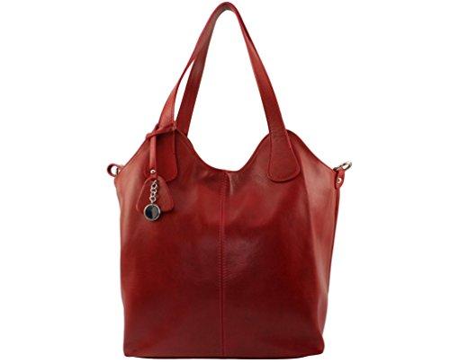 CHLOLY FRANCISCA Bolso al hombro de Cuero para mujer talla única Rojo Oscuro