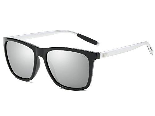 Bevi Polarized Wayfarer Polycarbonate Metal Sunglasses - Polycarbonate Metal