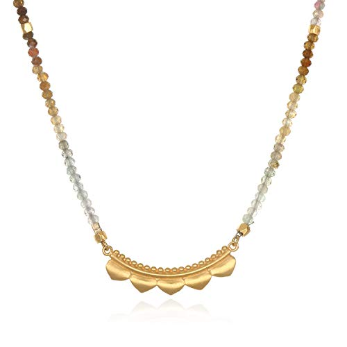 - Satya Jewelry Tourmaline Gold-Plate (24-Inch) Pendant Necklace, Multi, One Size