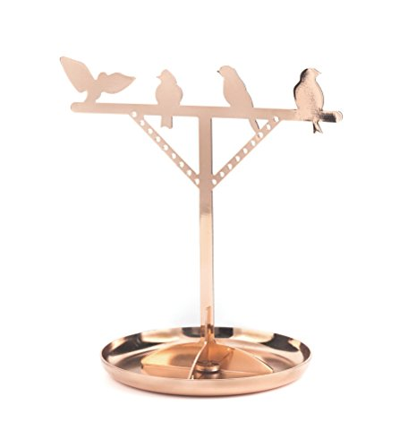 Kikkerland Bird Copper Jewelry Stand product image