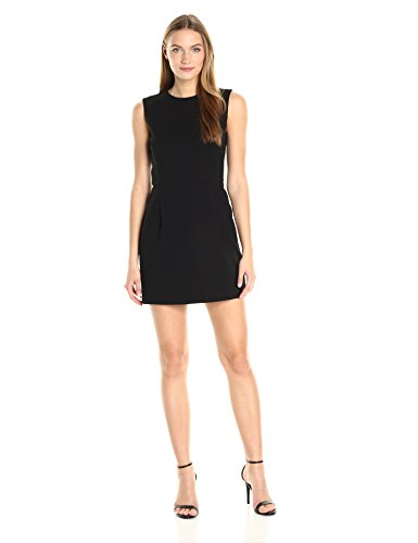 French Connection Women's Whisper Light Stretch Solid Mini Dress, Black Sundae, (French Connection Scoop Neck)