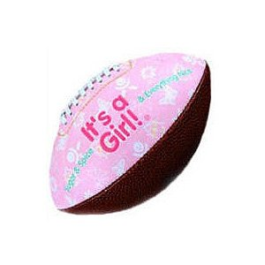 """IT'S A GIRL"" FOOTBALL -BIRTH ANNOUNCEMENT/Keepsake/GIFT/Pink - INCLUDES DISPLAY BOX/Shower/CHRISTENING/NEW BABY GIFT 5"" INCLUDES Plastic DISPLAY Box from Special Day Sports Balls"