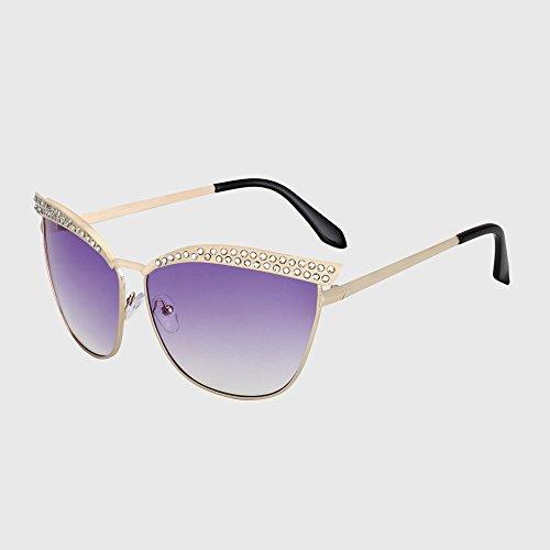 KLXEB C5 Vintage Kristall C5 Frauen Sonnenbrille Brillen Diamant Sonnenbrille Frauen Luxus Diseño Katzenaugen zPOxqzr1
