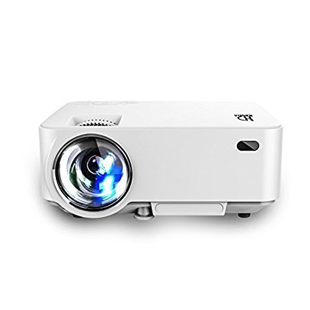 Video Projector,(Warranty Include)1500 Lumens Multimedia Portable Video Projector 170'' Screen for Home Cinema Support 1080P HD HDMI VGA AV USB Input Laptop U-disk Xbo TV box DVD, White