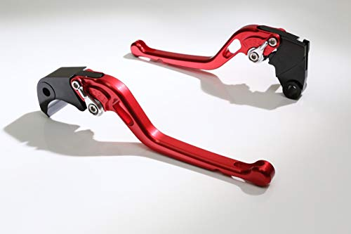 Emotion Motorcycle Clutch + Brake Lever Set for Ducati : Scrambler Urban/Icon/Sixty/Classic/Full Throttle (2015-2016) (Long Style : Red+Silver/Handle+Adjuster)