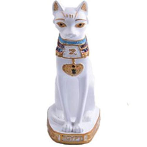 - RXIN Cat Statue Ornament Egyptian Cat Figurine Statue Decoration Vintage Cat Goddess Statue Home Garden