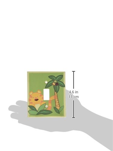 NoJo Jungle Babies Switch Plate Cover Crown Crafts Inc 3544987 CW-3544987