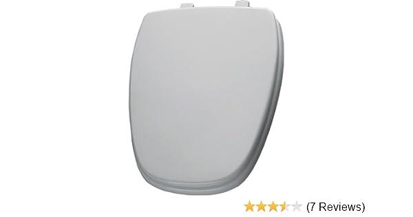 Eljer Emblem Toilet Seat. Bemis 1240210000 Eljer Emblem Molded Wood Round Toilet Seat  White Parts Amazon com