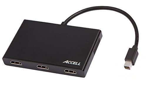 Accell Mini Displayport 1.2 to HDMI Multi-Display Video Splitter MST Hub - 3 HDMI Outputs by Accell
