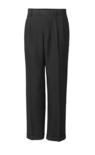 Cutter & Buck Men's Twill Microfiber Pleated Pant, Charcoal, 38X30