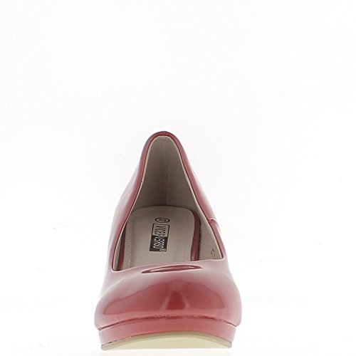 Classico rosso scarpe tacchi polacchi della piccola piattaforma 6,5 cm