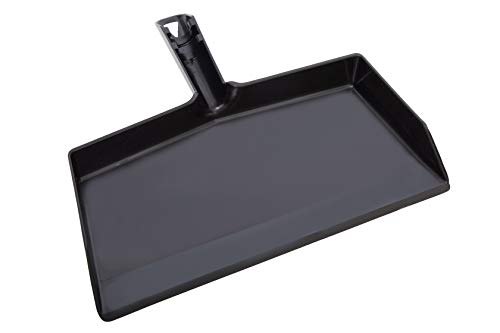 - Fuller Brush Black Clip-On Dustpan - Heavy Duty Plastic Clip On Dust Pan w/Wide Sweep Opening & Easy Grip Handle - Home & Commercial Dusting & Cleaning Tool