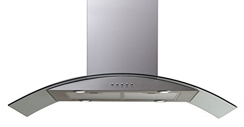 Windster Hood HI42SS Residential Stainless Steel Island Glass Range Hood Set, 42-Inch