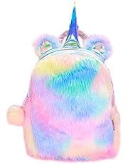 Unicorn Backpack Girls Schoolbag Plush Cute Soft Rainbow bookbag Mini Unicorn kids Toddler student Travel
