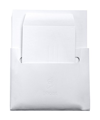 Ghost Paper Stationery Set - Embossed Lined Paper & Envelopes