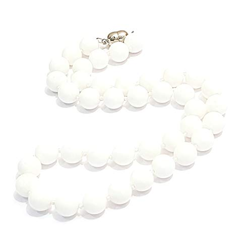 TreasureBay Fab 10Mm White Sea Shell Beaded Necklace With Magnetic Clasp Length 48Cm/19