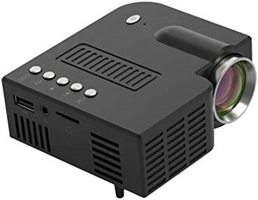 画面付きミニプロジェクター携帯電話、50 Lux 1080P対応、60インチディスプレイポータブルビデオプロジェクター、20000時間LEDランプ寿命-White(same screen