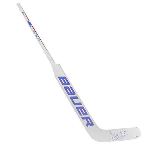 - Henrik Lundqvist New York Rangers Red and White Game Model Stick - Steiner Sports Certified - Autographed NHL Sticks