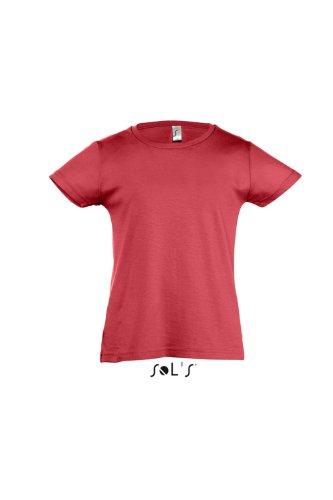Sol 's Kids–Camiseta Girlie–Cherry Rojo