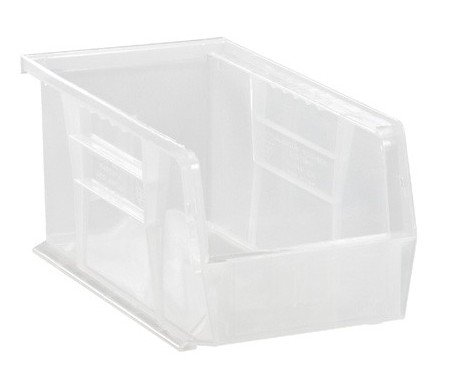 ic Storage Stacking Ultra Bin, 10-Inch by 5-Inch by 5-Inch, Clear, Case of 12 ()