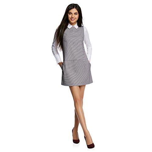 oodji Ultra Mujer Vestido Básico con Bolsillos low-cost