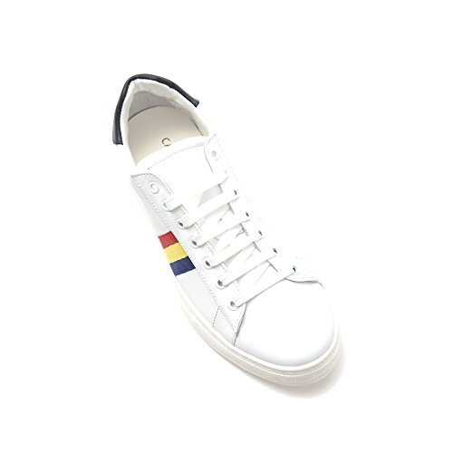 in Stringata Blu Uomo in Bianco Made Scarpa Rosso Sneaker Italy Pelle Castelbajac wq1g77