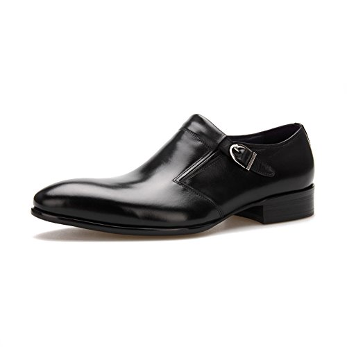 Scarpe Da Uomo Per Il Tempo Libero In Pelle Tendine Vestito Autunno Business Wedding Moda Slip On Marrone-nero Nero