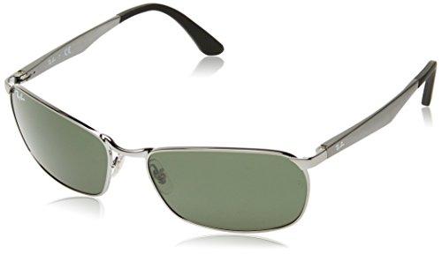 Ray-Ban RB3534 004 Non-Polarized Sunglasses Gunmetal Frame/ Green Lenses - Lens Ban Single Ray