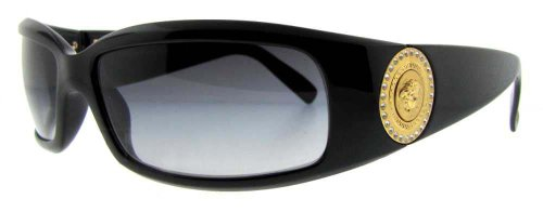 Versace VE4044B Sunglasses-870/8G Black (Gray Lens)-60mm 31xWuytEAUL