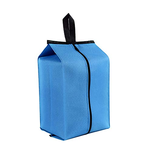 Borsa da Viaggio Scarpe Custodia Impermeabile a Prova di Umidità Scarpe Borsa Esterna Pieghevole Uomini e Donne Sport Portatili Scarpe MimeticheSacchetto Sacchetto Detriti blu (grigio) Blu