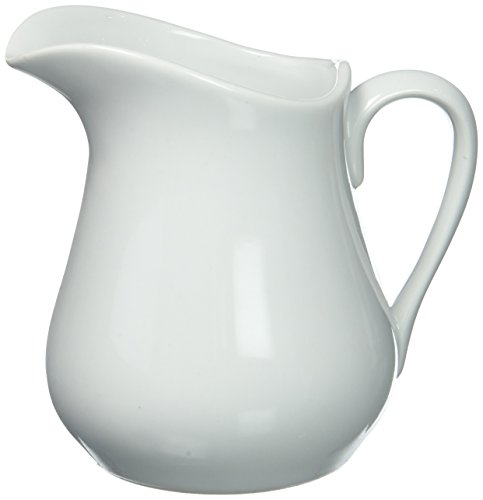 HIC Creamer Pitcher with Handle, Fine White Porcelain, - Pitcher Cream
