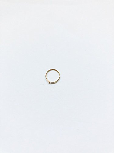 14k Gold Filled Adjustable Metal Hoop Nose Ring - 24 Gauge 5-6mm by EllieJMaui