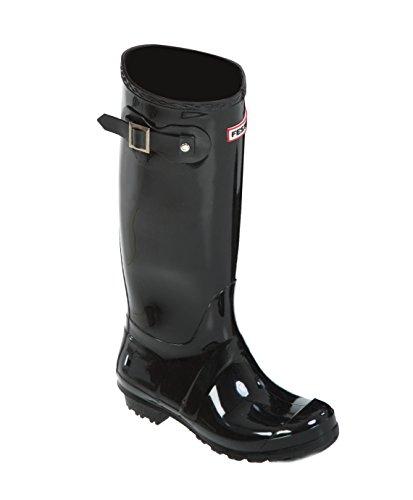 Festival Women's Black Gloss Wellington Boots