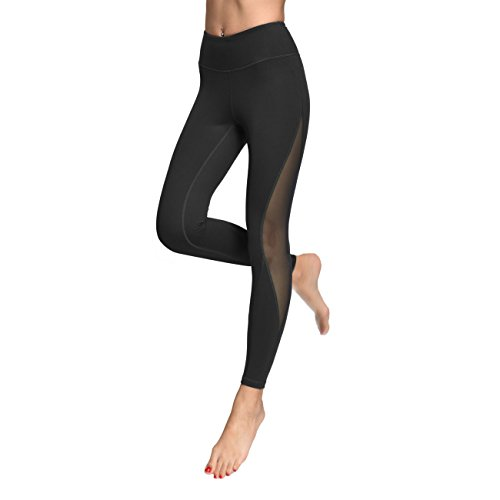 035540e93a809 Galleon - Mesh Workout Leggings Yoga Pants In Petite W Inner Pocket  Waistband Workout Pants Fitness For Women ONE017