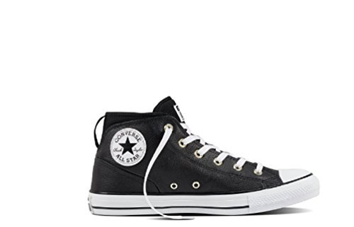 Converse Mens Chuck Taylor All Star Street Sneaker Black/Black/White 9 B(M) US Women / 7 D(M) US Men