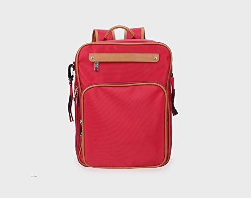 Ligero multi-funcional medioambiental bolsa de la momia, impermeable de gran capacidad de la mochila de la moda, leche de bebé en polvo de leche de la bolsa ( Color : Vino rojo ) Vino rojo