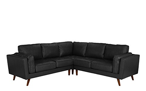 Divano Roma Furniture – Mid Century Modern Tufted Real Leather Sectional Sofa 31xX3BHgbxL